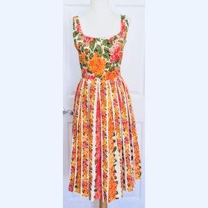 New Isaac Mizrahi Dress Sz 8 M Floral Pleated